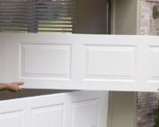 install garage door panels